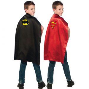 Cape réversible Batman Superman enfant
