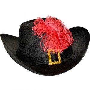 Chapeau mousquetaire noir