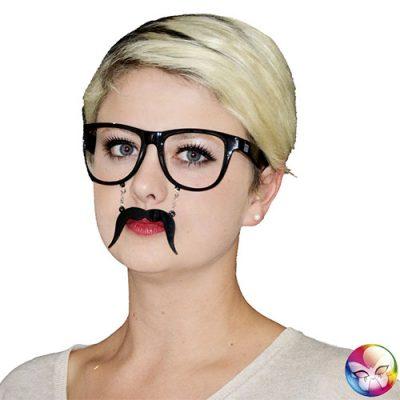 Lunettes moustache noire