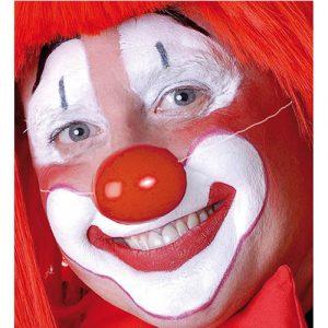 Nez de clown plastique rouge