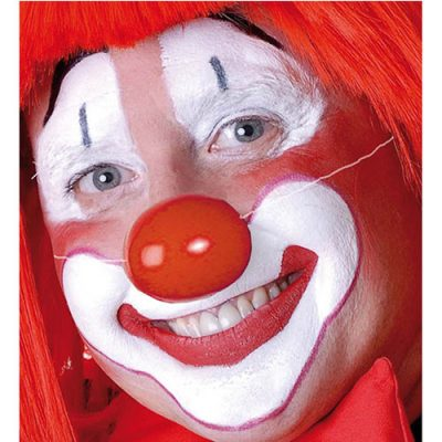 Nez de clown plastique rouge