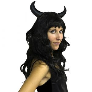 Serre-tête démon noir