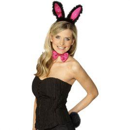 Set Bunny noir rose - Accessoire déguisement