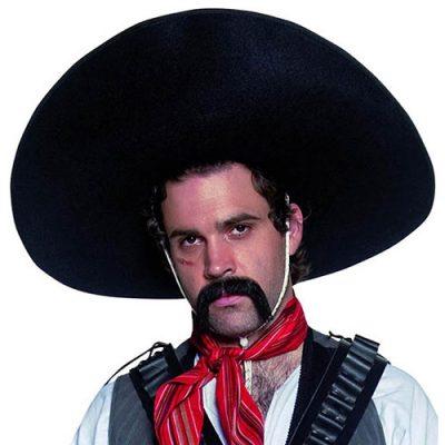 Sombrero mexicain Authentic Western noir