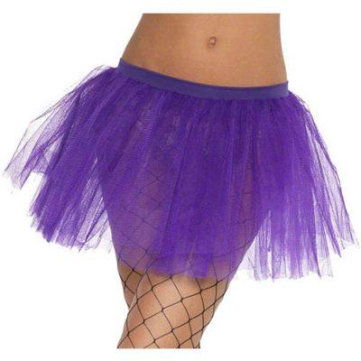Tutu résille violet - Accessoire de déguisement