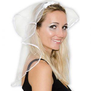 Coiffe voile mariée blanc
