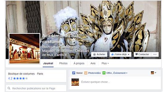 L'Académie du Bal Costumé sur Facebook