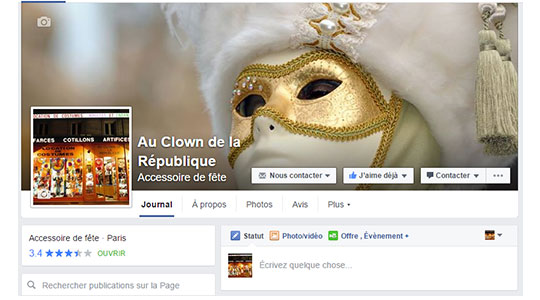Le Clown de la République sur Facebook