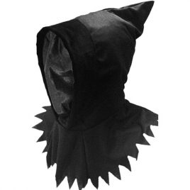 Cagoule noire visage invisible