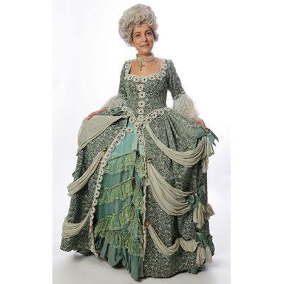 Duchesse vert eau - Location costumes d'époque magasin Paris