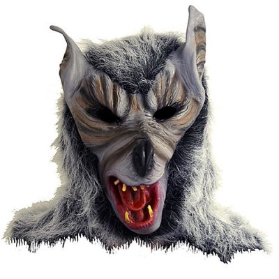 Masque complet loup garou avec poils