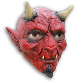 Masque complet diable effrayant latex adulte