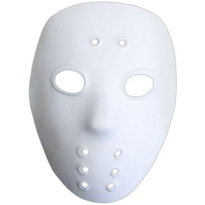 Masque hockeyeur blanc
