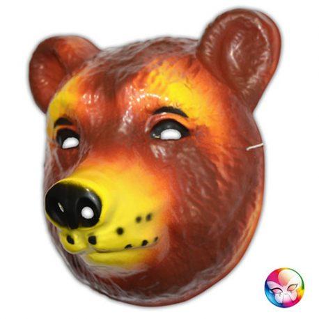 Masque plastique rigide ours adulte