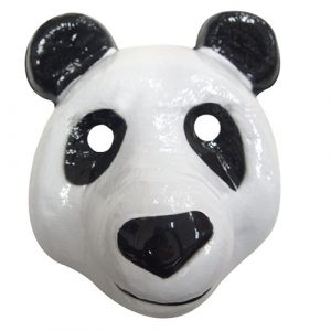 Masque plastique rigide panda adulte
