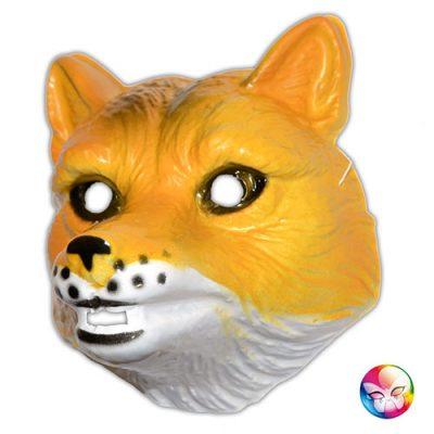 Masque plastique rigide renard adulte
