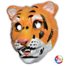 Masque plastique rigide tigre adulte