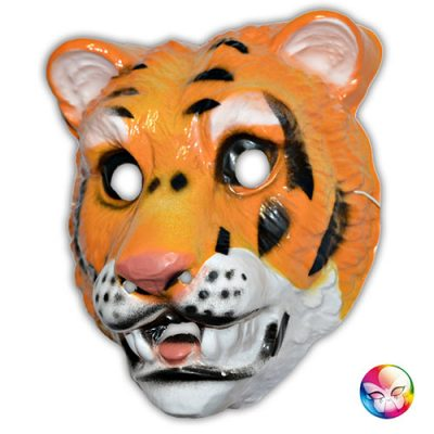 Masque plastique rigide tigre adulte