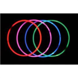 Collier lumineux rouge, rose, bleu ou vert