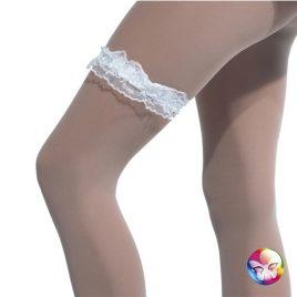 Jarretière dentelle blanche - Accessoire sexy