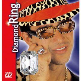 Bague faux diamant