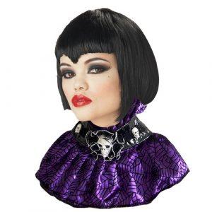 Col gothique violet noir