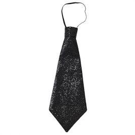 Cravate paillettes noire