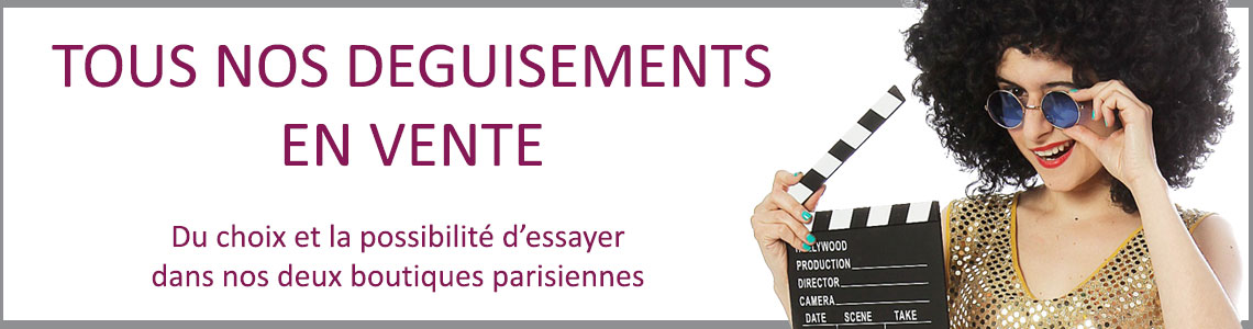 Vente deguisement Paris slide