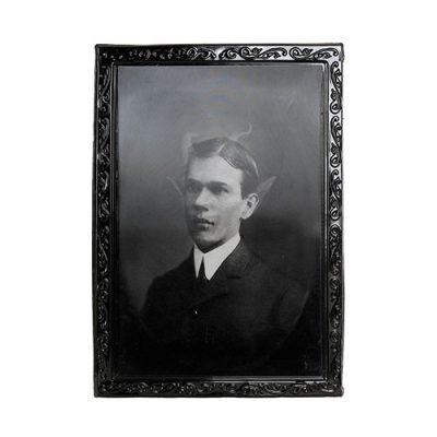 Cadre holographique jeune homme