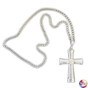 Collier croix gothique argent