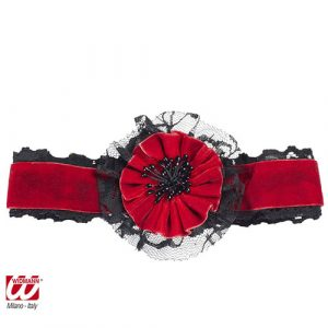 Tour de cou rouge et noir