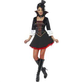 Costume femme vampiresse fever rouge noir