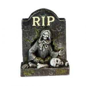 Décoration pierre tombale faucheuse