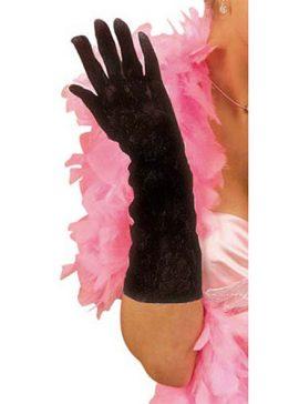 Gants dentelle noire 40 cm