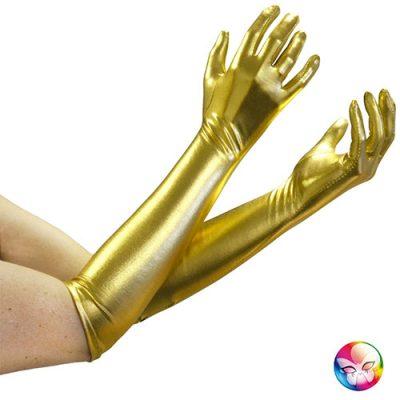 Gants satinés doré
