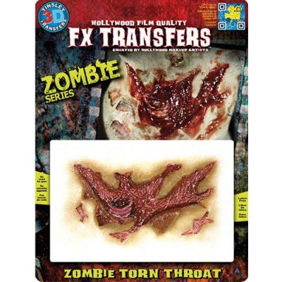 Gorge lacérée zombie Transfert 3D
