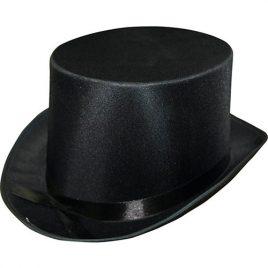 Chapeau haut de forme satin noir