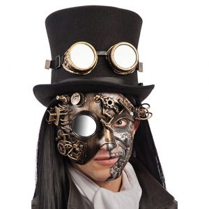 Masque profil steampunk