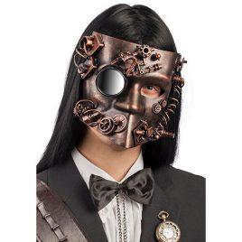 Masque steampunk cuivré