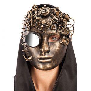 Masque total steampunk cuivré