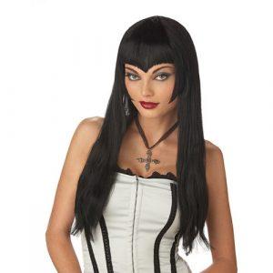 Perruque vampiresse noire longue