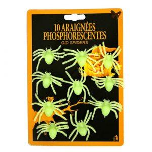 Set araignées phosphorescentes