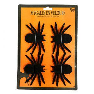 Set mygales velours noires
