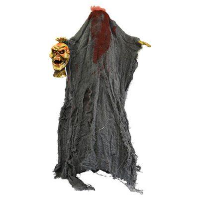 Squelette tête coupée son et lumière