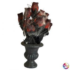 Vase gothique avec roses