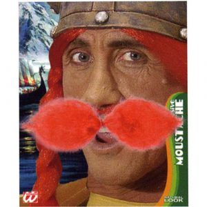 Moustache gaulois rousse