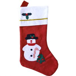 Chaussette de Noël en feutrine décorée