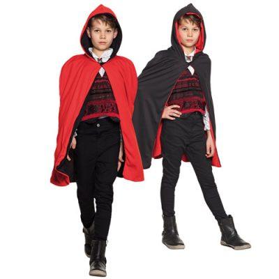 cape-enfant-twilight-noire-et-rouge