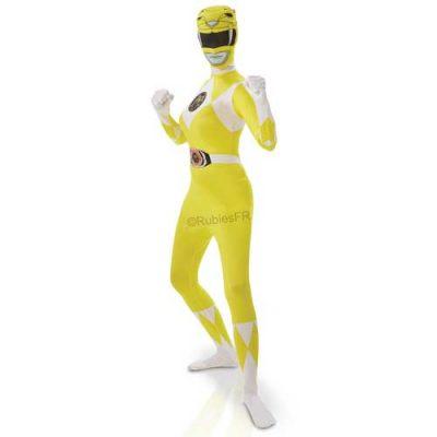 costume-femme-second-skin-power-rangers-jaune