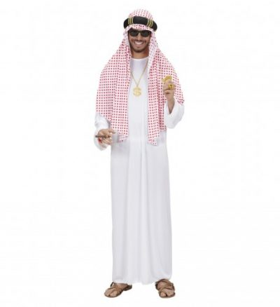 costume-homme-cheik-arabe-rouge